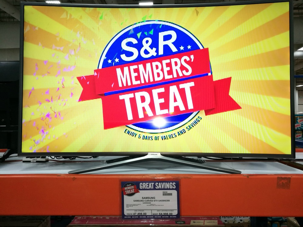 S&R Members Treat 2017 Samsung Curved TV