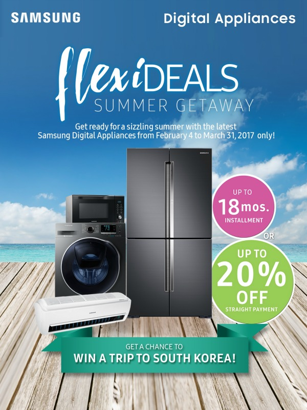 Samsung Digital Appliances Promo Discounted Prices Until
