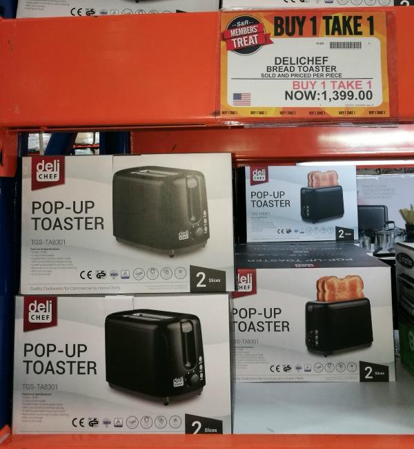 S&R Members Treat 2017 Toaster Buy 1 Take 1