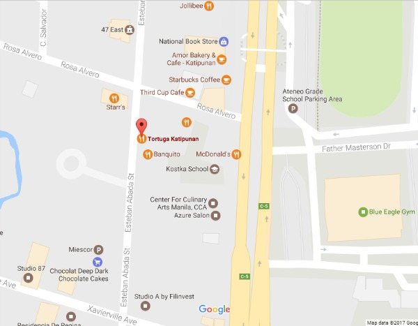 Tortuga Katipunan Map