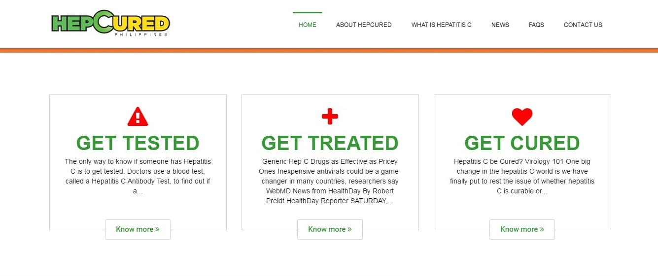 hepcured website