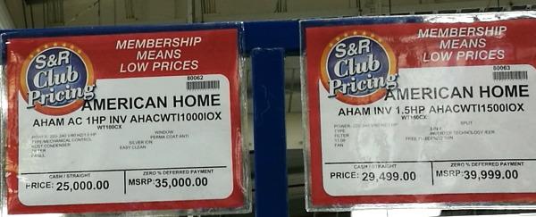 American Home Inverter Air Conditioner Price