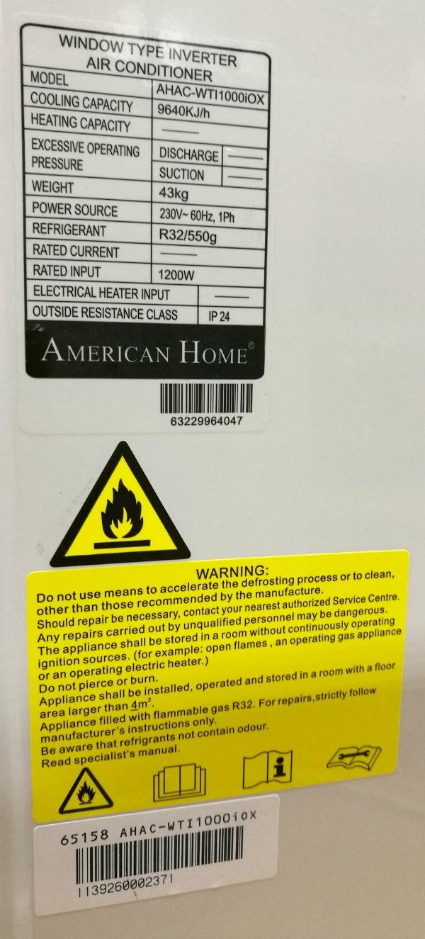 American Home Inverter Air Conditioner Specs