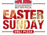 Papa Johns Unli Pizza Easter Sunday
