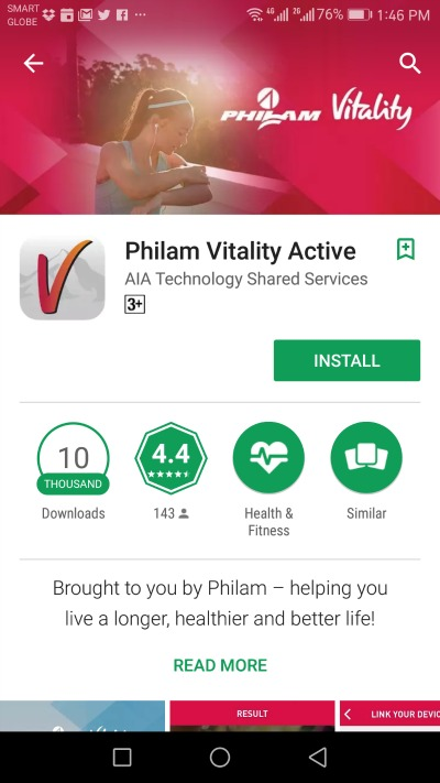 Philam Vitality Active Google Play