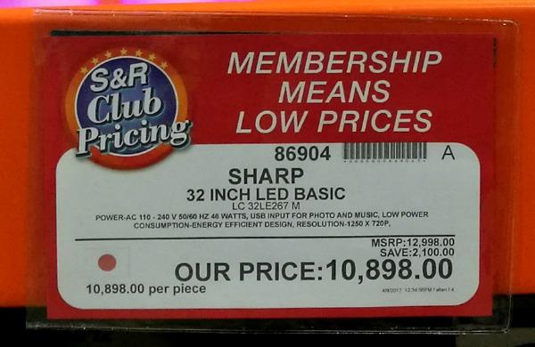 "Sharp 32"" LED TV Specs Price"
