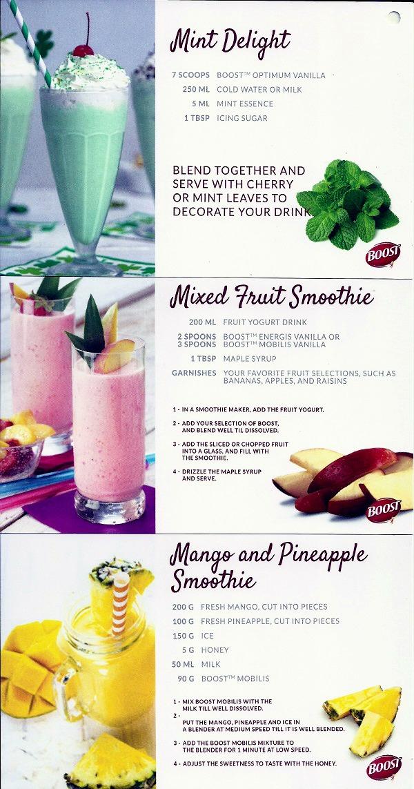 Nestle Boost Recipes