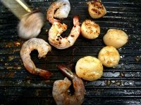 Table Top Grilling Shrimp Scallops