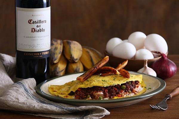Casillero del Diablo Cabernet Sauvignon with Arroz ala Cubana Omu Style