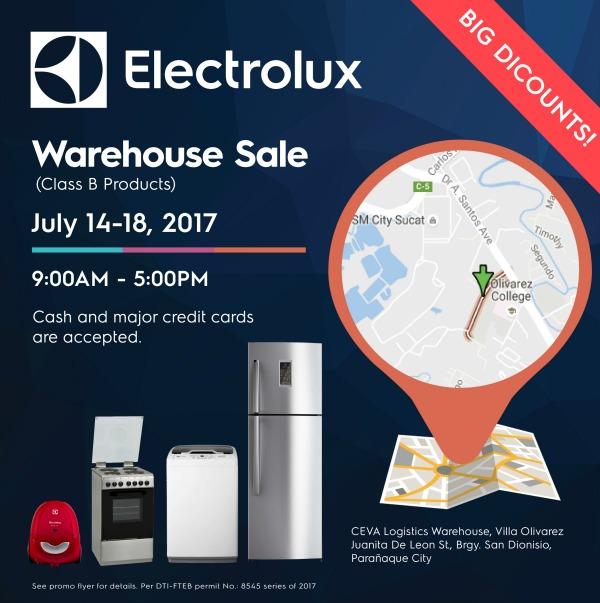 Electrolux Warehouse Sale 2017