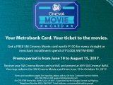 Metrobank Promo: Get P100 SM Cinema Card with P3,000 Purchase