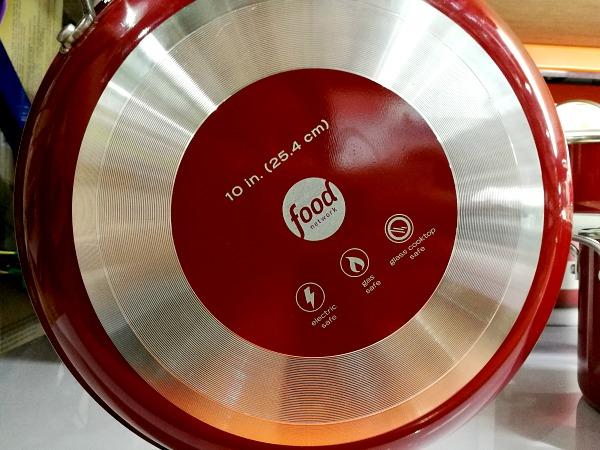 Food Network 10 pc Aluminum Cookware Set Ceramic