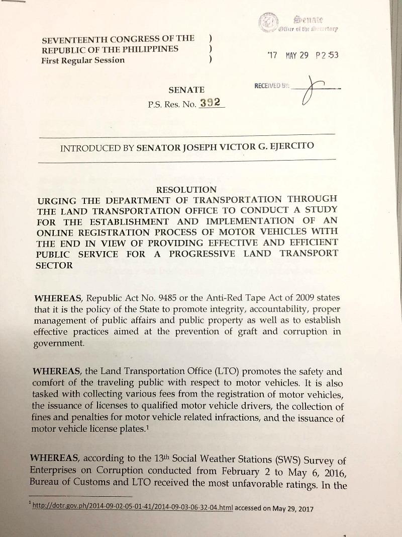 JV Ejercito Online Registration Proposal 1