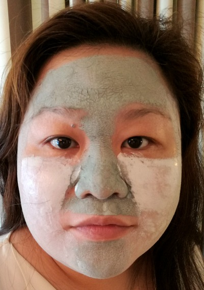 L'Oreal Pure Clay Mask Applied Combination After