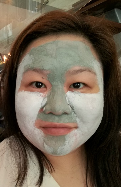 L'Oreal Pure Clay Mask Applied Combination