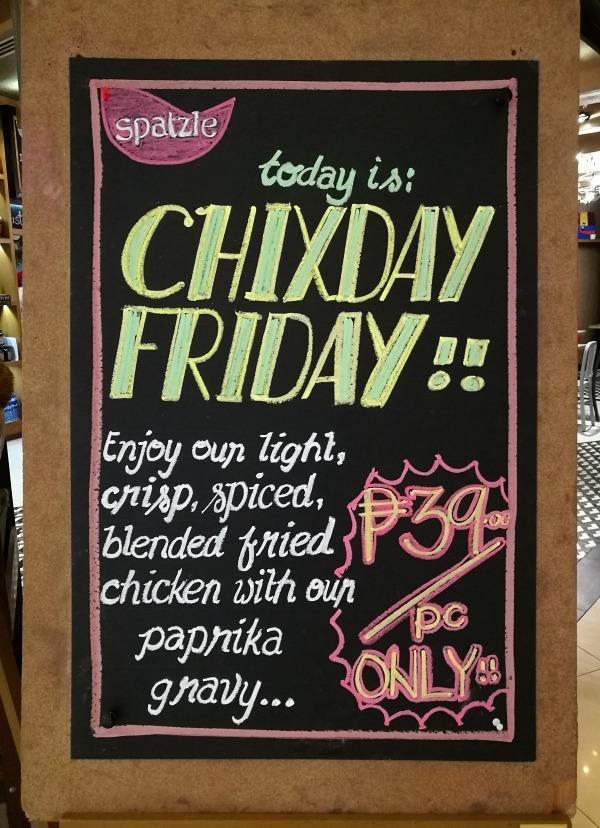 Spatzle Chixday Friday