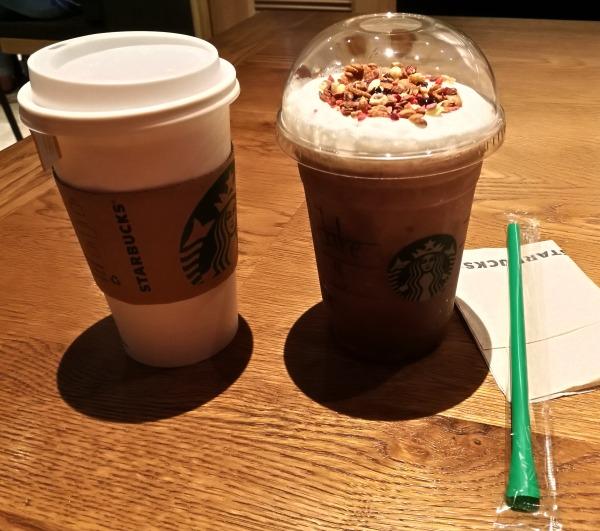Starbucks O Square Greenhills Dark Mocha Granola Frap