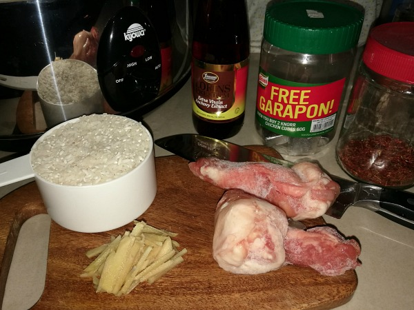 Lazy Arroz Caldo Ingredients