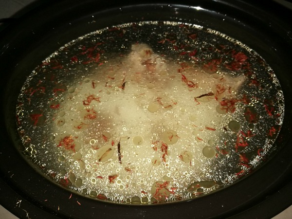 Lazy Arroz Caldo Before Slow Cooking