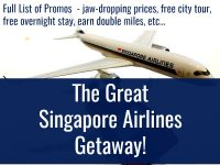 The Great Singapore Airlines Getaway Promo