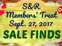 S&R Members' Treat Sale 2017 Sept