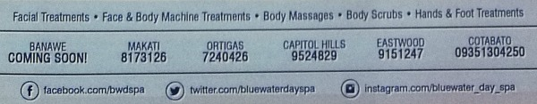 BlueWater Day Spa Contact Information