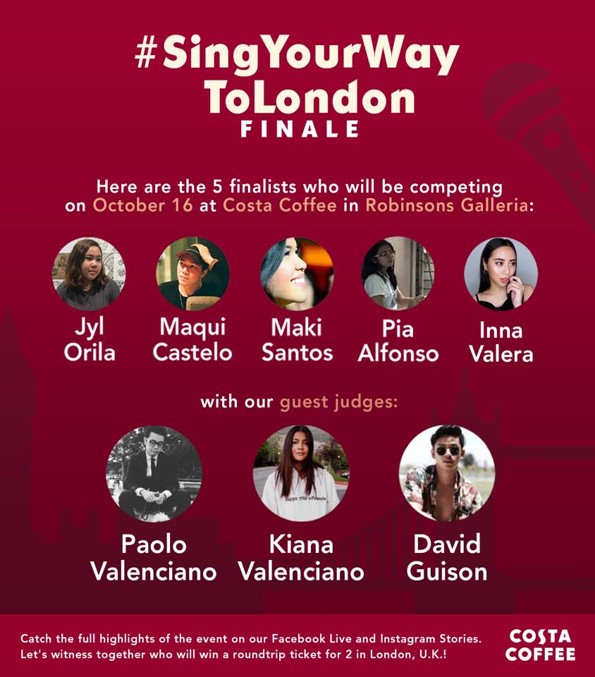 Costa Coffee Sing Your Way to London Poster