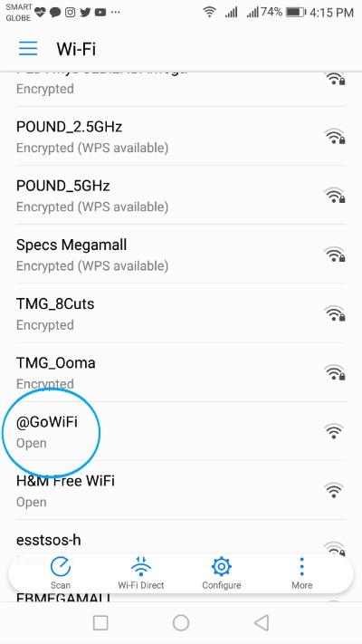 Globe GoWifi SSID
