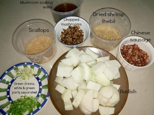 How to Make Radish Cake Ingredients