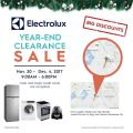Electrolux Year-End Clearance Sale! Nov. 30 – Dec. 4