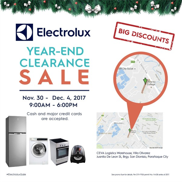 Electrolux Year-End Clearance Sale 2017