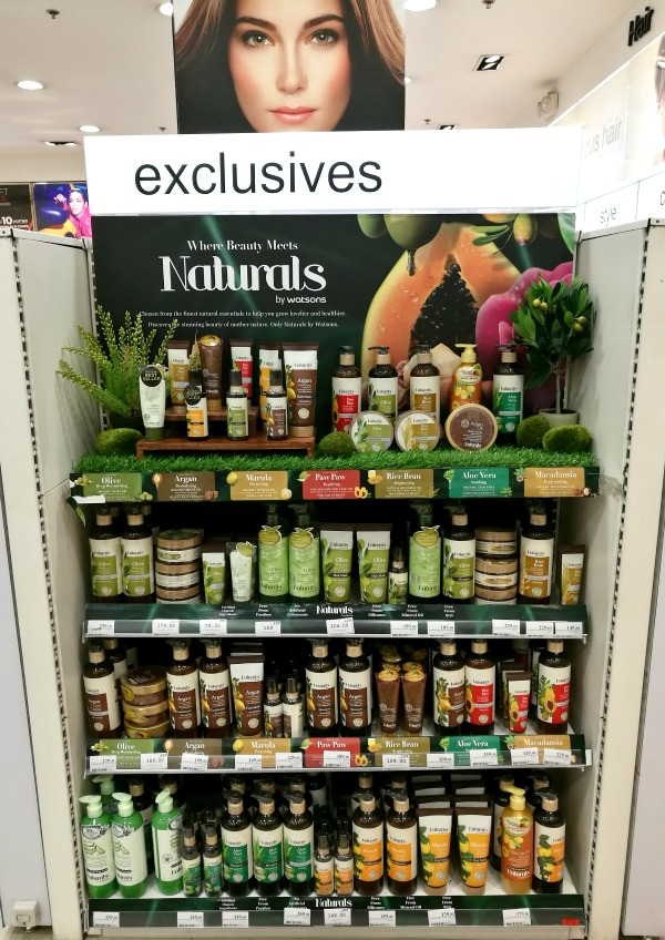 Naturals by Watsons Products Store Display