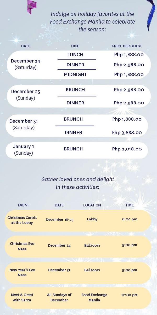 Novotel Manila Buffet Holidays 2017