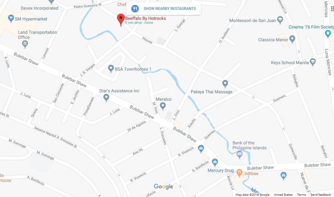 Beeffalo San Juan Map