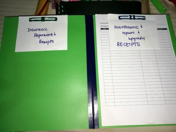 Car Essentials Kit Filing Paperwork