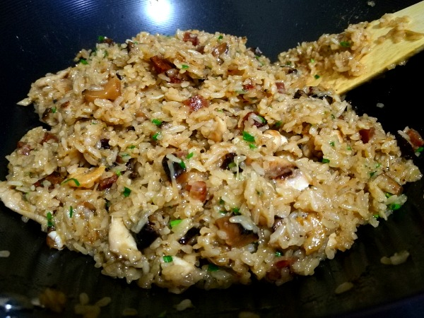 Chinese Stir Fried Sticky Glutinous Rice Lo Mai Fan