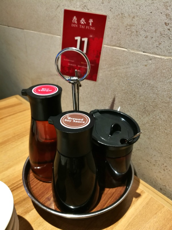 Din Tai Fung Megamall Table Sauces