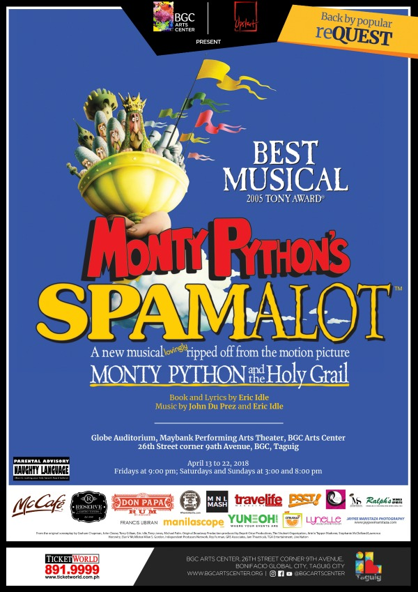 Spamalot 2018 New Poster
