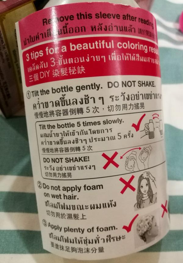 Liese Creamy Bubble Color Instructions