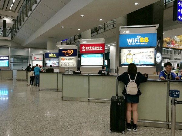 HKIA Arrivals Booths