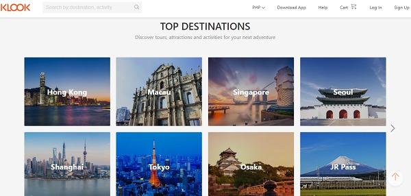 Klook Top Destinations