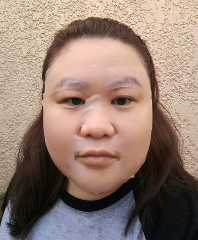 Mediheal NMF Aquaring Mask Applied