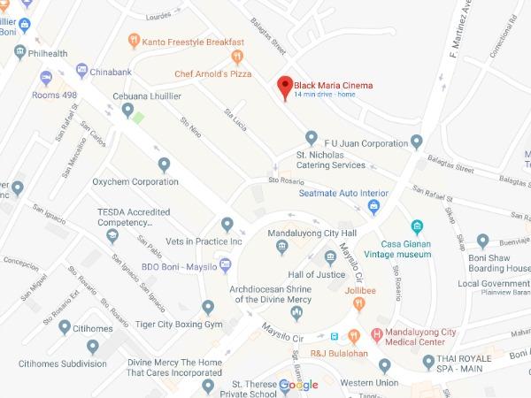 Santiagos Cafe Map