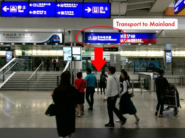 HKIA Transport to Mainland China directions
