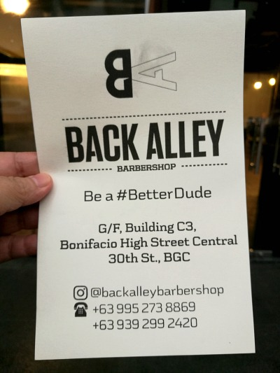 Back Alley Barbershop Contact Info