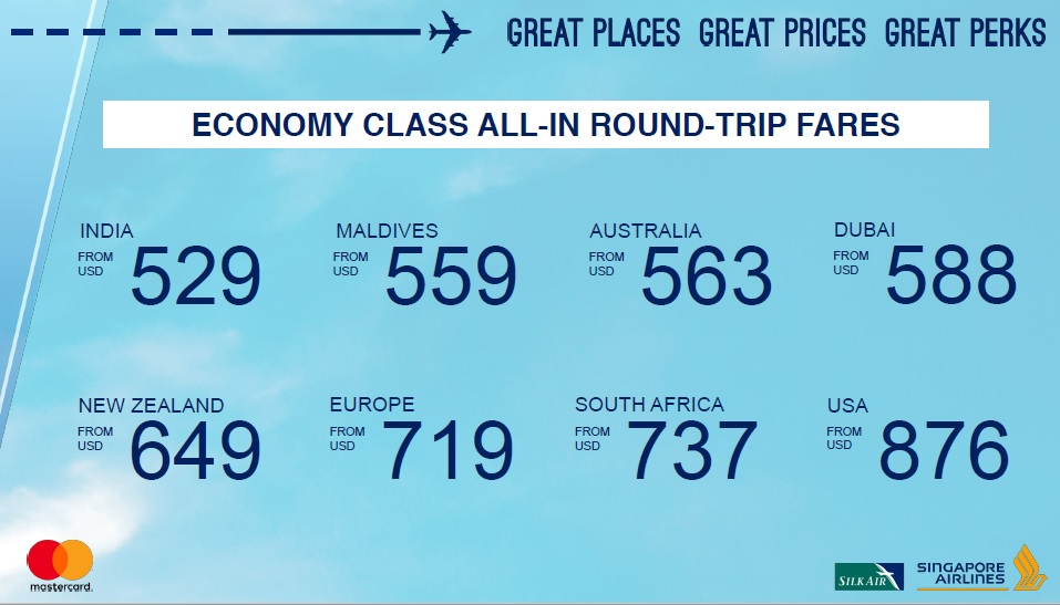 Singapore Airlines Getaway RT Economy World