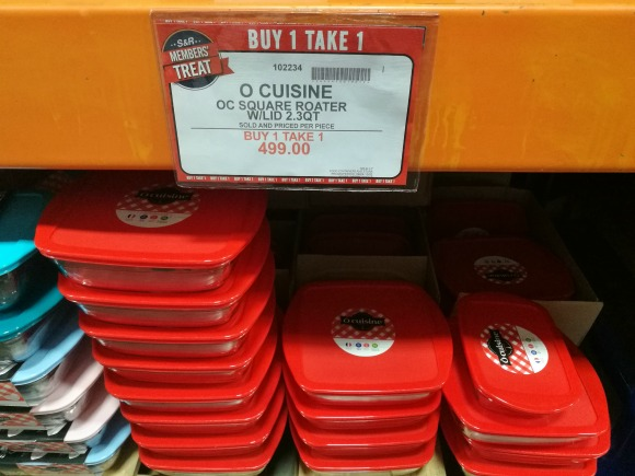 SnR Members Treat Buy 1 Take 1 O Cuisine with Lid