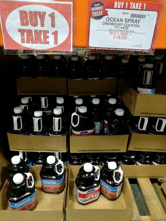 SnR Members Treat Buy 1 Take 1 Ocean Spray Cranberry