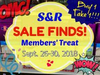 SnR Members Treat Sept 2018 Featured Image