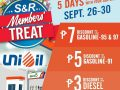 Save Up to P7.00 per Liter of Gas During S&R's Member's Treat